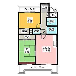 グランドステイタス八田[4階]の間取り