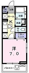 鷹匠町アパート[1-1020号室]の間取り