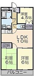 ドミール上野[301号室]の間取り