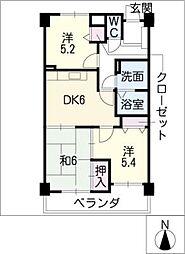 マンション城土[2階]の間取り