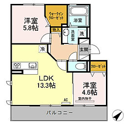 D-room昭代[2階]の間取り