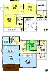秋田県秋田市桜台2丁目 [一戸建] の間取り