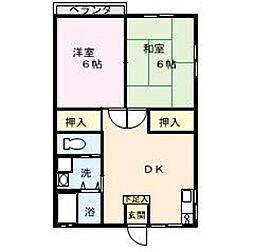 長野県諏訪市高島1丁目の賃貸アパートの間取り