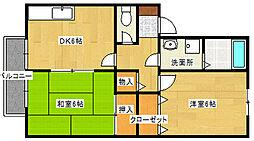 セジュールSAITOH[1階]の間取り