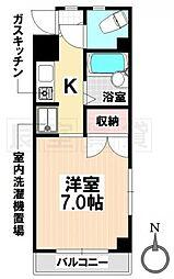 愛知県名古屋市瑞穂区直来町2丁目の賃貸マンションの間取り