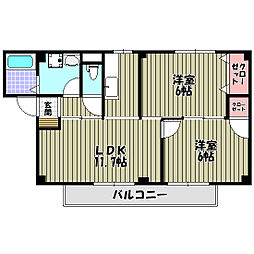 ローレル・コートハギノ[2階]の間取り