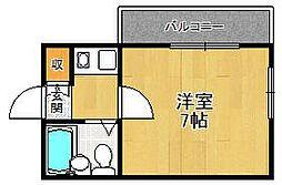 ジョイフル武庫之荘2[318号室]の間取り