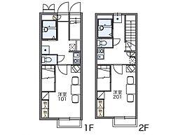 レオパレスエスポワール[1階]の間取り