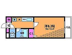 ドゥ・ベルジュール[3階]の間取り