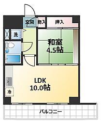 エレガントライフ新大阪[2階]の間取り