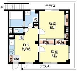 M&Kカーサダルテ[1階]の間取り