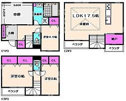 [一戸建] 東京都杉並区阿佐谷北1丁目 の賃貸【/】の間取り