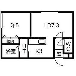 アイルVIP[2階]の間取り