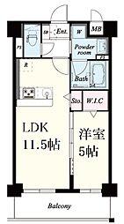阪神本線 新在家駅 徒歩8分の賃貸マンション 1階1LDKの間取り