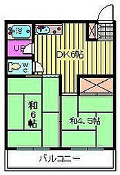 第一末広マンション[1階]の間取り