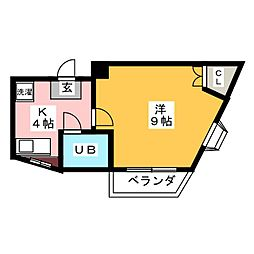 ヤマキエステートII細畑[4階]の間取り