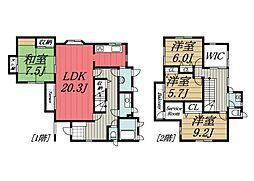 [一戸建] 千葉県佐倉市白銀3丁目 の賃貸【/】の間取り
