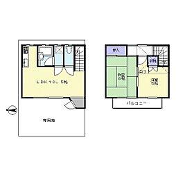 [テラスハウス] 埼玉県日高市大字下鹿山 の賃貸【/】の間取り