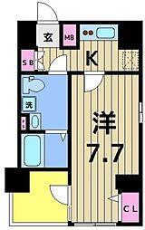 クレストタップ綾瀬 6階1Kの間取り