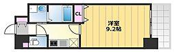 TKアンバーコート津久野 8階1Kの間取り