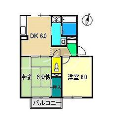 セジュールSIMA[2階]の間取り