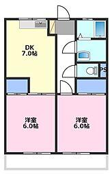 イーハトーブ川越[2階]の間取り
