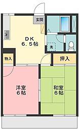 コーポ鳥之海B棟[1階]の間取り