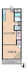 神奈川県横浜市港北区高田西4丁目の賃貸マンションの間取り