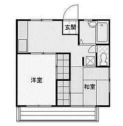 野川ハイツ[1階]の間取り