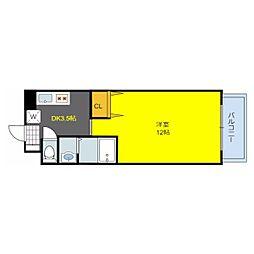 フロム東大阪[7階]の間取り