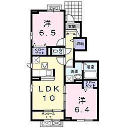 LaLe W[104号室]の間取り