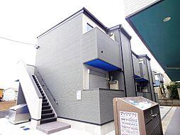 千葉県松戸市新松戸7の賃貸アパートの外観