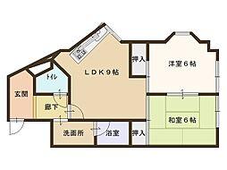 NSマンションIII4階Fの間取り画像
