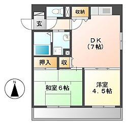 マノアール・泉[4階]の間取り