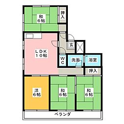 岡田真英ハイツ[3階]の間取り