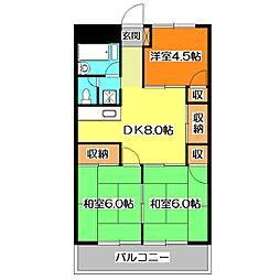 竹丘グリーンマンション[1階]の間取り