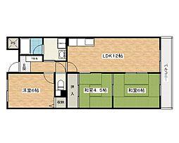 エクセルハイム[3階]の間取り