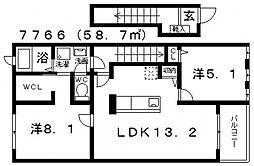 ラ・ルーチェ[202号室号室]の間取り
