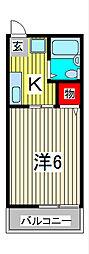 シティハイム・フヂエールIII[2階]の間取り