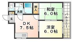 サンコート塚口[2階]の間取り