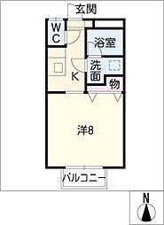 下東野コーポ II[1階]の間取り
