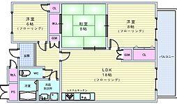 緑地ロイヤルハイツ2号館[1階]の間取り