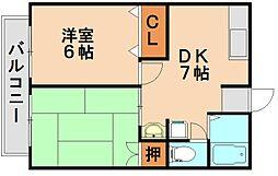 上大利ハイホーム[2階]の間取り