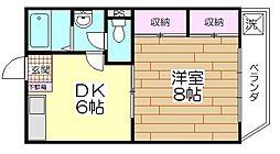 第二宇田川ビル[204号室]の間取り