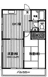 ピアシティ[2階]の間取り