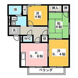 フレグランス清水 A棟[2階]の間取り