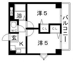 オプスローザ[7階]の間取り