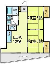 メゾンドゥ松崎[3階]の間取り