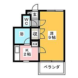 プリモ小相木[1階]の間取り