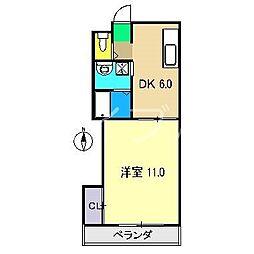 ドリームハウス2[5階]の間取り